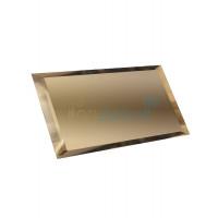 Прямоугольная зеркальная плитка бронза 480х120 мм